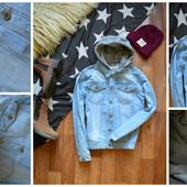 Джинсовка-джинсовая куртка  с капюшоном,р-р М-Л