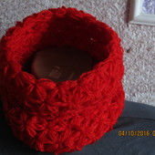 Новый! Handmade Теплый шарф-снуд на девочку от 4х до 12лет
