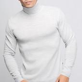 Свитер с горловиной мужской , 3 цвета 23071