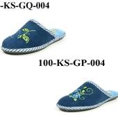 100-ks-GP-004, 100-ks-GQ-004 женские домашние тапочки Sanipur материал - махра, цвет-синий, р36-41
