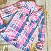 Рубашка для девочки 12 лет ( 146 -152) рукав регулируется