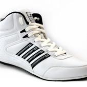 Высокие мужские кроссовки на осень белые (S-8066)