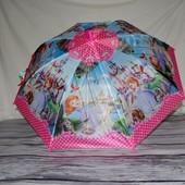 Зонтик детский полуавтомат с изображением героев м/ф Принцесса София тканевый