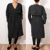 Стильный плащ-пальто облегченного фасона с оригинальным покроем  OW35013  H&M