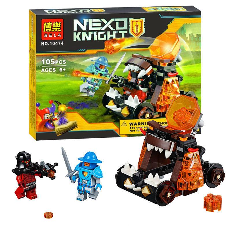Конструктор bela 10474 безумная катапульта серия nexo knights нексо найт фото №1