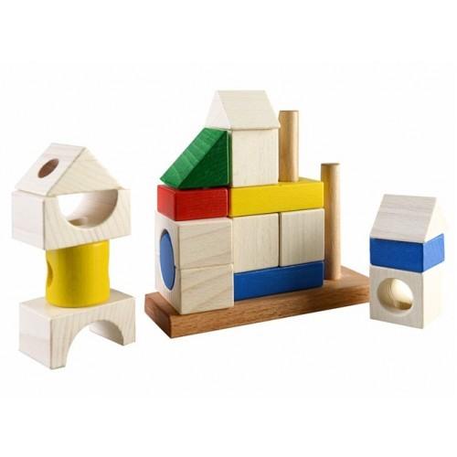 Деревянная пирамидка конструктор сооружение ду-25 руди дерево фото №1