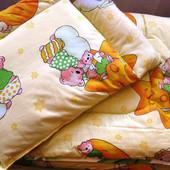 Постельный набор детское одеяло + подушка Силикон