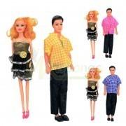Набор кукол семья в кульке ,  33 см фото №1