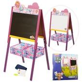 Мольберт деревянный двухсторонний BB10052-3,Щенячий Патруль,розово-фиолетовый