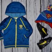 Фирменная куртка ветровка ярка и очень эффектная 1 - 2 года 80 - 86 см Dude