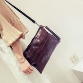 3-86 Женская сумка Pleasant/ Клатч/ Женская вместительная сумочка/ Черная сумочка/ Бордовая сумочка