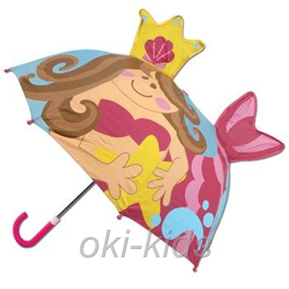 Детский зонтик 3D ушки. Русалочка. фото №1