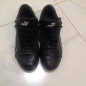 Мужские кроссовки Puma (натуральная кожа) р.39-40 черный