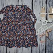 Очень яркое модное платье туника для стильной 3 - 4 года 104 см Next некст