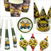 Декор и одноразовая детская бумажная посуда. Детский праздник