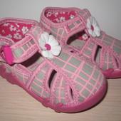 Текстильные польские тапочки Renbut арт. 13-106 для девочки польша ренбут