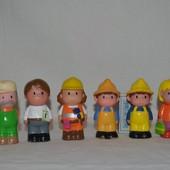 Фирменные фигурки рабочие человечки Happy land от ELC елс mothercare мазекеа