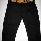 Черные утепленные брюки для мальчиков р.134-158 (арт88808)