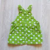 Яркий вельветовый сарафан для новорожденной. Next. Размер 0-3 месяца. Состояние: новой вещи