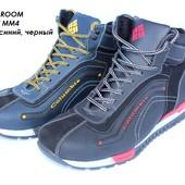 Мужские кожаные кроссовки на зиму, 2 цвета