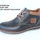 Зимние ботинки мужские, натуральная кожа