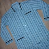 Мужская голубая пижама полоса Германи Хлопок ХL/50