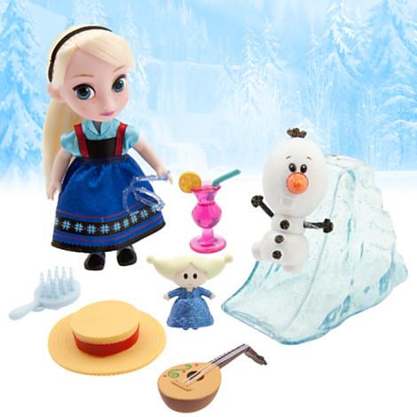 Мини кукл-аниматор эльза с набором игрушек. disney animators´ collection фото №1
