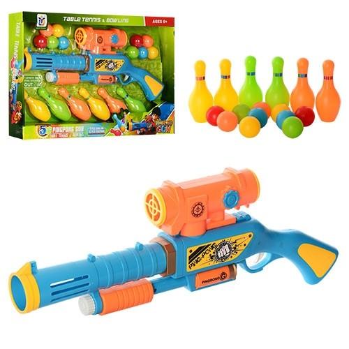 Детское ружье 648-16 с кеглями фото №1