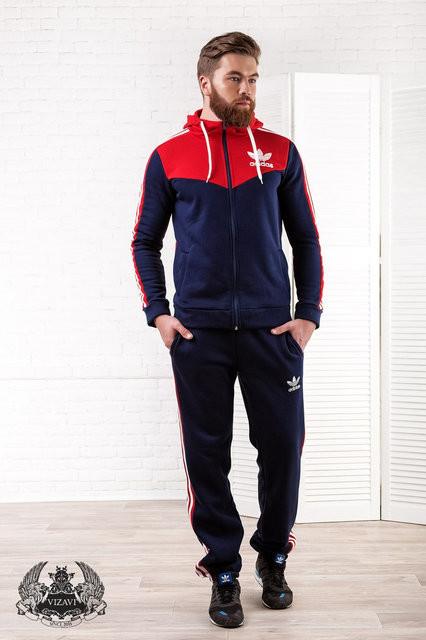 Мужской спортивный костюм трехнитка с начесом фото №1