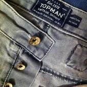 Узкие серые джинсы Topman Turkey (размер 32/34)