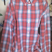 Banana Republic Бангладешь эффектная рубашка в клетку на высокого XL наш 52-54р