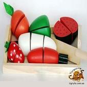 Разрезные овощи деревянные на липучках