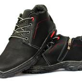 Полуботинки мужские ботинки утепленные Львовская фабрика (ПБ-78чр)