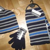 Качественные комплекты шапка варежки шарф