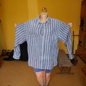 Рубашка в полоску котонова Universal розмір М