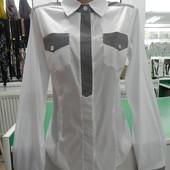 Новая стильная рубашка M-L стрейчевая