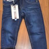 Срочный сбор 98-128, сегодня выкуп! Качественные утепленные флисом джинсы. Венгрия.