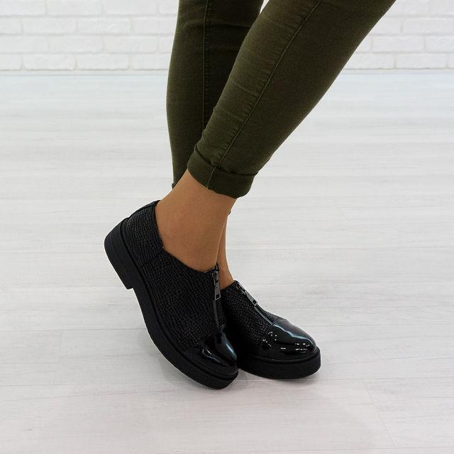 Стильные туфли из натуральной кожи фото №1