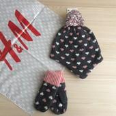 H&M шапочка + варежки