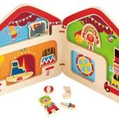 Книга-домик с магнитами «Цирк», Hape (E3017)