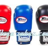 Перчатки боксерские DX Twins на липучке, 3 цвета: 10- 12 унций (кожвинил)