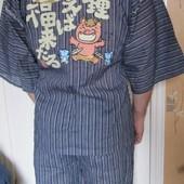 Костюм кимоно пижама японская одежда Jinbei Новый (L)