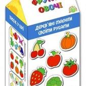 Деревянная раскраска на магнитах Овощи и Фрукты