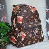 Модный молодежный городской рюкзак в стиле Луи Витон