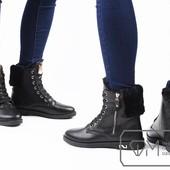 Ботинки женские Wonex на искусственному меху Модель № : W3244