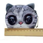 Кошелек с принтом кошки