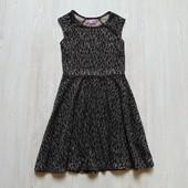 Нарядное платье с золотистым блеском для девочки. F&F. Размер 9-10 лет. Состояние: новой вещи