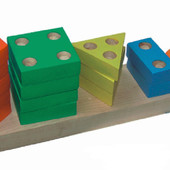 Пирамидка геометрическая «Счет», Komarovtoys Артикул: А 337