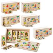 Деревянное Домино-развивающая игра