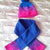 Шапка зимния  и шарф Rebel 2-4 года